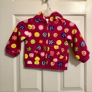 "EUC Gymboree ""Candy"" Fleece Hoodie Sz 2T"